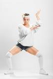 女孩跳舞breakdance 图库摄影