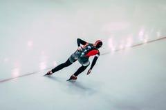 女孩运动员溜冰者 库存照片