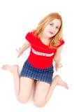 女孩运动的年轻人 免版税库存图片