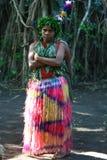 女孩部族瓦努阿图村庄 免版税库存照片