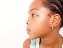 女孩配置文件年轻人 免版税库存照片