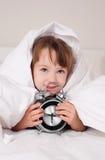 女孩醒来 免版税库存照片