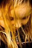 女孩金黄头发 库存照片