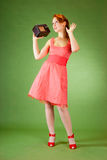 女孩针样式 免版税库存照片