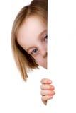 女孩隐藏 免版税库存照片