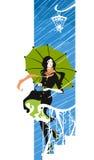 女孩雨伞 图库摄影