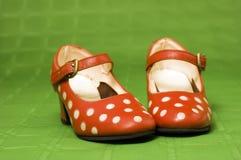 女孩鞋子 库存照片