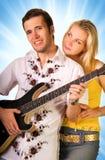 女孩音乐家年轻人 免版税库存图片