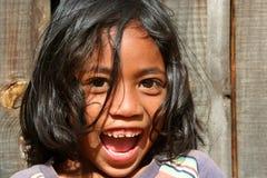 女孩马达加斯加人的纵向 免版税库存照片