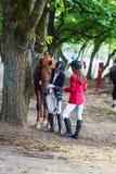 女孩骑师 免版税库存图片