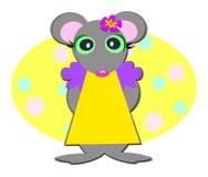 女孩鼠标甜点 免版税库存照片