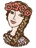 女孩,乌克兰语 免版税库存图片