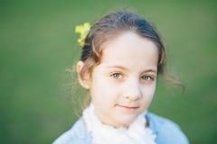 女孩,春天,爱,绽放,戏剧,乐趣,好,孩子,孩子,葡萄酒 图库摄影