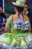 女孩,从智利的舞蹈家传统服装的2 免版税图库摄影