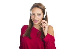 女孩移动电话谈话 库存照片