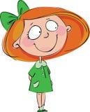 女孩头发的红色 库存图片