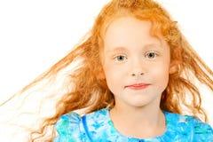 女孩头发的红色 库存照片