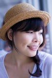 女孩戴帽子 免版税图库摄影