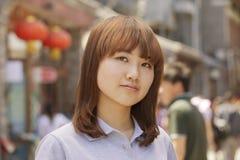 女孩画象在户外北京 库存图片