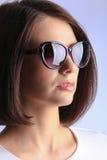 女孩画象太阳镜的 图库摄影