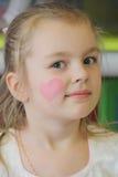 女孩画象有蓝眼睛的 图库摄影