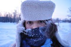 冻女孩 免版税库存照片