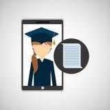 女孩app教育网上文件设计 免版税库存图片