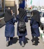 女孩highschool伊朗人 库存照片