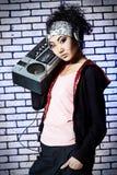 女孩Hip Hop 免版税图库摄影