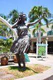 女孩hula 免版税库存图片