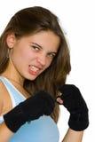 女孩kickbox 库存照片