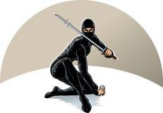 女孩ninja 免版税库存照片