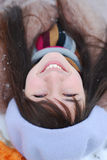 女孩portret冬天 免版税库存图片