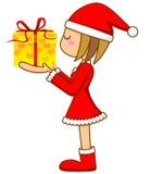 女孩s圣诞老人 库存图片