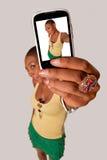 女孩Selfie 免版税库存照片