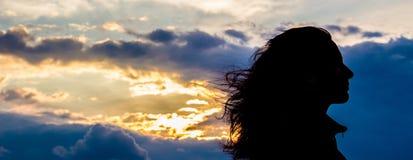 女孩silhouette1 库存图片