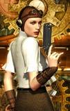 女孩steampunk 库存照片