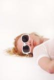 女孩sunlasses 免版税库存图片