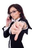 女实业家下来打手势略图 免版税库存照片