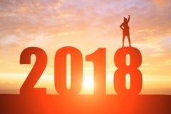 女实业家与2018年 免版税库存照片