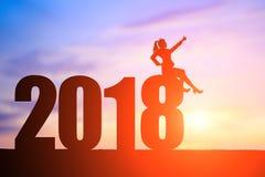 女实业家与2018年 免版税库存图片