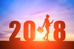 女实业家与2018年 免版税图库摄影