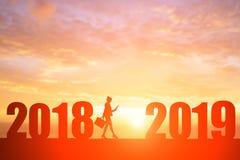女实业家与2019年 免版税库存图片