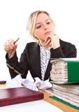 女实业家办公室 免版税库存图片