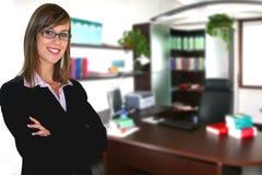 女实业家办公室 免版税库存照片