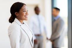 年轻女实业家办公室 免版税库存照片