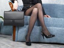 女实业家办公室 免版税图库摄影