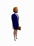 女实业家动画片回报白色 向量例证