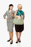 女实业家和母亲 免版税库存照片