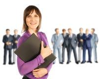 女实业家和男性同事 免版税图库摄影
